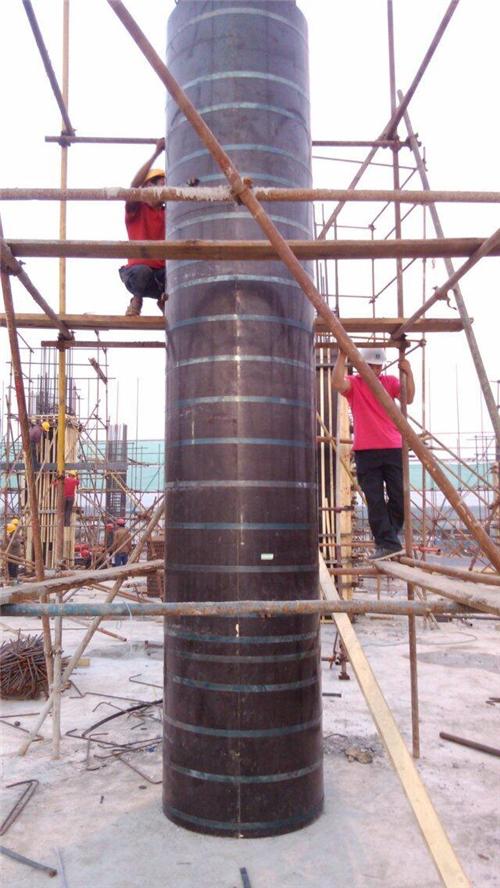 建筑圆模板施工