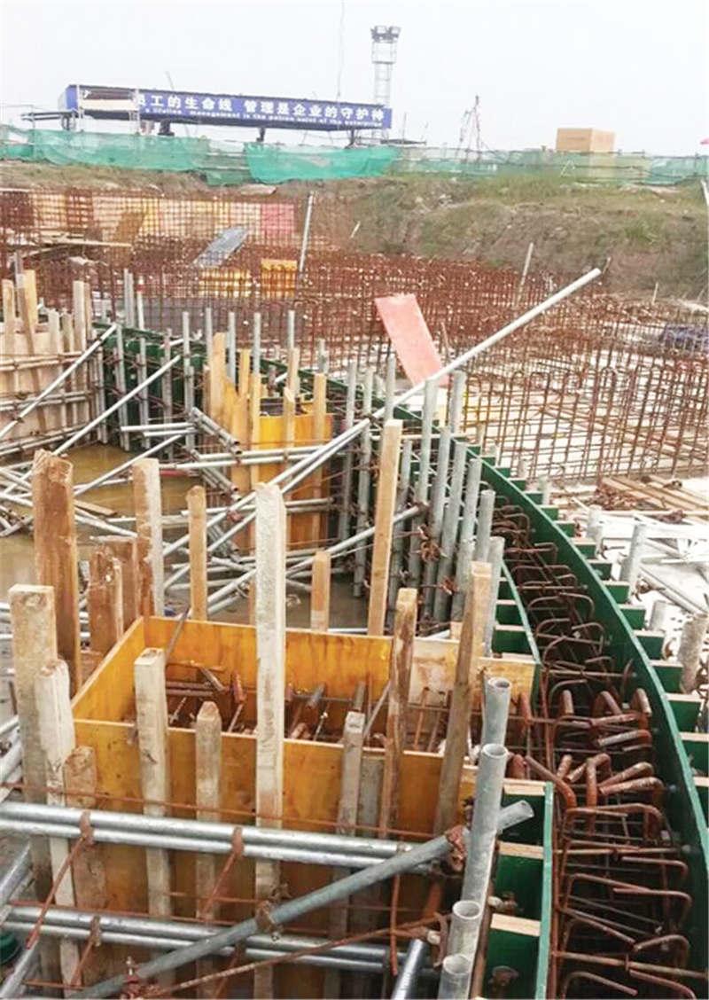 弧形建筑模板施工
