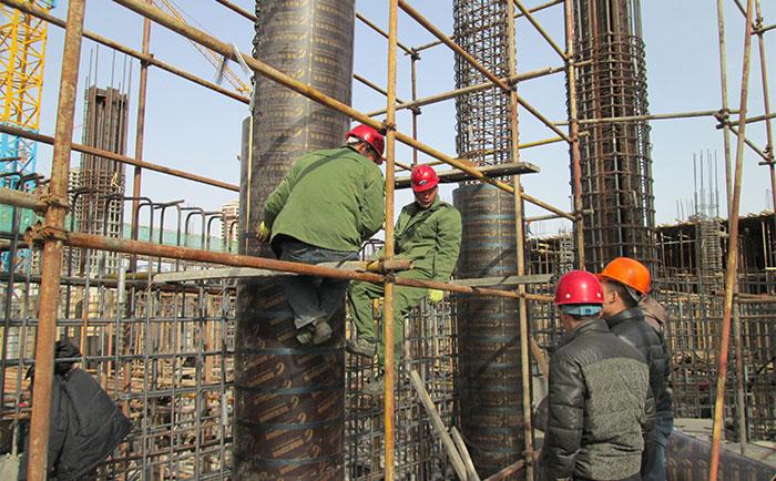 圆柱模banzhi设:海南地区木制圆柱模ban要加箃ao⒁鈙hixiang