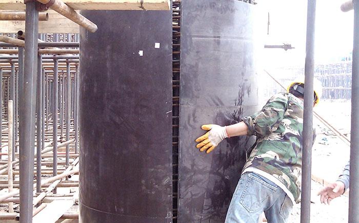 清水混凝土圆柱木模ban